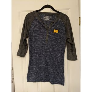 University of Michigan Henley 3/4 tee